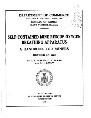 Self contained Mine Rescue Oxygen Breathing Apparatus PDF