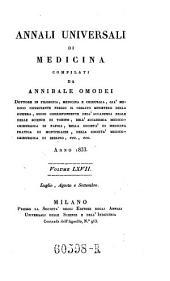 Annali di medicina straniera, compilati da A(nnibale) Omodei: Volume 71
