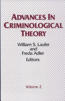 Advances in Criminological Theory  Volume 2 PDF