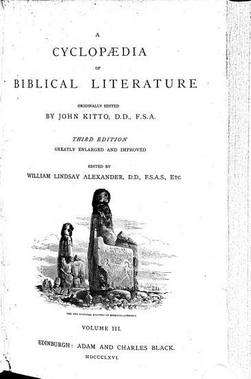 A Cyclopaedia of Biblical Literature PDF