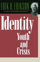 Identity  Youth and Crisis PDF