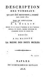 Description des tombeaux qui ont été découverts à Pompeï dans l'année 1812