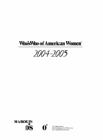 Who's Who of American Women 2004-2005