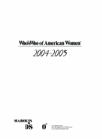 Who s Who of American Women 2004 2005 PDF