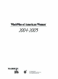 Who s Who of American Women 2004 2005