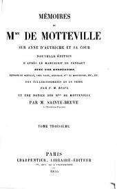 Mémoires de Mme de Motteville sur Anne d'Autriche et sa cour: Volume3