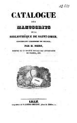 Catalogue des manuscrits de la biblioth  que de Saint Omer  concertant l histoire de France PDF