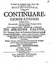 Mysteriosophia soteriologias de continua regenerationis gratia