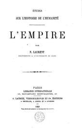 Etudes sur l'histoire de l'humanité: Volume15