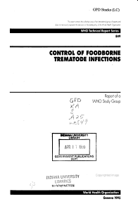 Control of Foodborne Trematode Infections