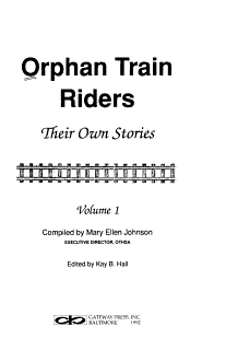 Orphan Train Riders Book