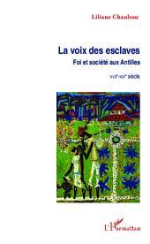 La voix des esclaves: Foi et société aux Antilles - XVIIe-XIXe siècle