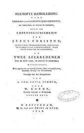 Beknopte handleiding over de lijdensgeschiedenis van Jezus Christus, ...