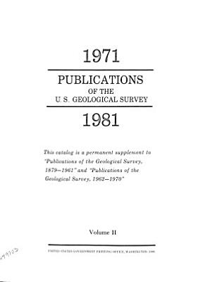 Publications of the Geological Survey PDF