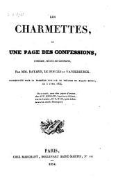 Les charmettes, ou, Une page des confessions: comédie, mêlée de couplets