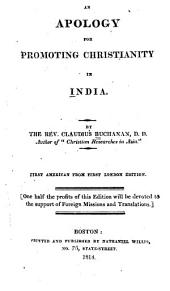An apology for promoting Christianity in India
