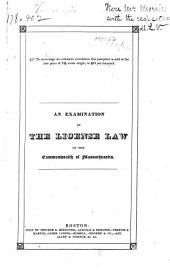 Licensed Houses: An Examination of the License Law of the Commonwealth of Massachusetts