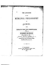 The Aphorisms of the Mímánsá Philosophy
