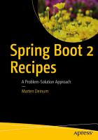 Spring Boot 2 Recipes PDF