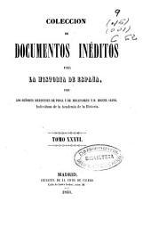 Colección de documentos inéditos para la historia de España: Volumen 36