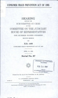 Consumer Fraud Prevention Act of 1995 PDF