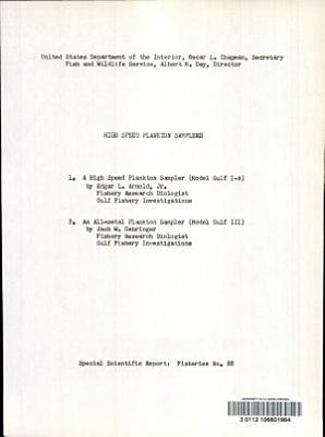 High Speed Plankton Samplers PDF
