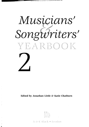 Musicians    Songwriters  Yearbook 2008 PDF