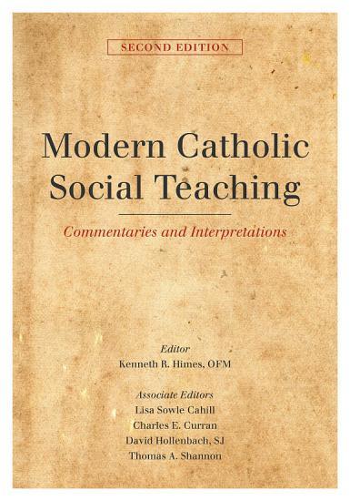 Modern Catholic Social Teaching PDF