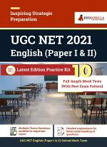 UGC NET English 2021 | 10 Full-length Mock Test (Paper I & II) | With Latest Exam Pattern