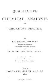 Qualitative Chemical Analysis and Laboratory Practice