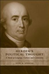 Herder's Political Thought: A Study on Language, Culture and Community