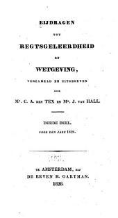 Bijdragen tot regtsgeleerdheid en wetgeving: Deel 3