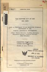 Tax Reform Act of 1969, H.R. 13270