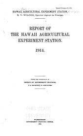 Report of the Hawaii Agricultural Experiment Station