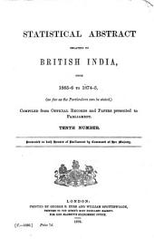 East India (Statistical Abstract).: Statistical Abstract Relating to British India, Issue 10