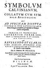 Symbolum Calvinianum, collatum cum symbolo apostolico