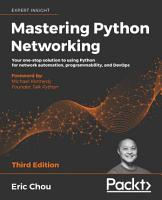 Mastering Python Networking PDF