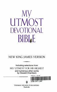 My Utmost Devotional Bible Book