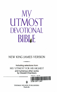 My Utmost Devotional Bible Book