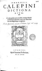 Ambrosii Calepini dictionarium