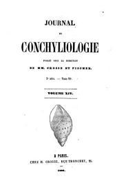 Journal de conchyliologie: comprenant lè́tude des mollusques vivants et fossiles, Volume 14
