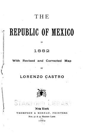 The Republic of Mexico in 1882