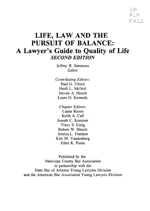 Life  Law  and the Pursuit of Balance PDF