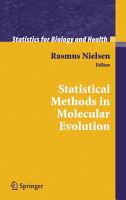 Statistical Methods in Molecular Evolution PDF