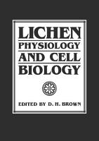 Lichen Physiology and Cell Biology PDF