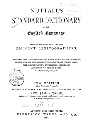 Nutall s Standard Dictionary of the English Language PDF