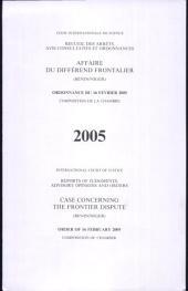 Affaire du différend frontalier (Bénin/Niger): ordonnance du 16 février 2005