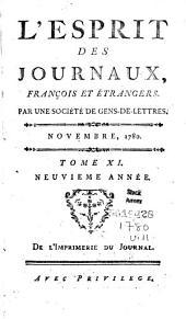 L'Esprit des journaux français et étrangers: Volume11