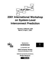 2001 International Workshop on System-Level Interconnect Prediction