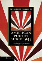 The Cambridge Companion to American Poetry Since 1945 PDF
